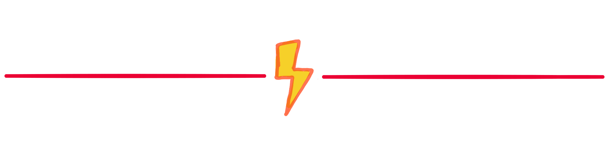 A divider image with a thunderbolt
